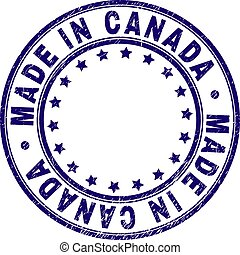 Scratched Textured MADE IN CANADA Round Stamp Seal