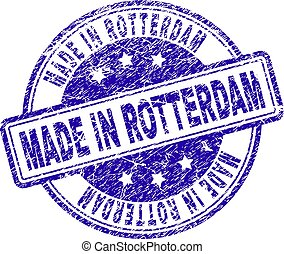 Scratched Textured MADE IN ROTTERDAM Stamp Seal