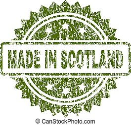 Scratched Textured MADE IN SCOTLAND Stamp Seal