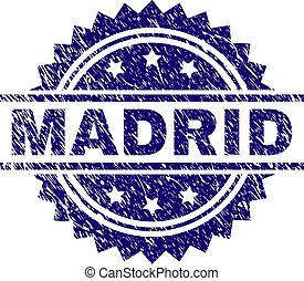 Scratched Textured MADRID Stamp Seal