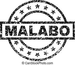Scratched Textured MALABO Stamp Seal