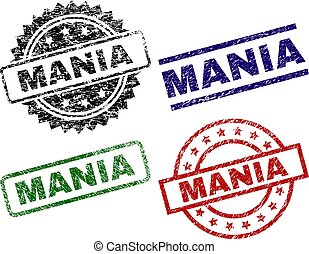Scratched Textured MANIA Seal Stamps