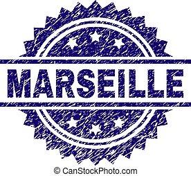Scratched Textured MARSEILLE Stamp Seal