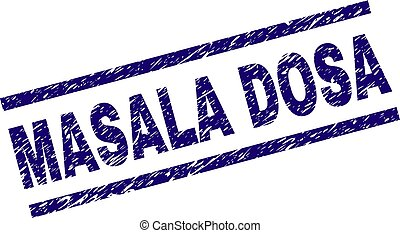 Scratched Textured MASALA DOSA Stamp Seal