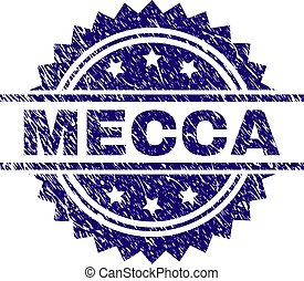 Scratched Textured MECCA Stamp Seal