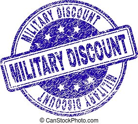 Scratched Textured MILITARY DISCOUNT Stamp Seal