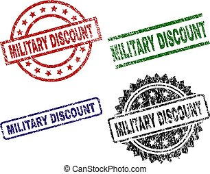 Scratched Textured MILITARY DISCOUNT Stamp Seals