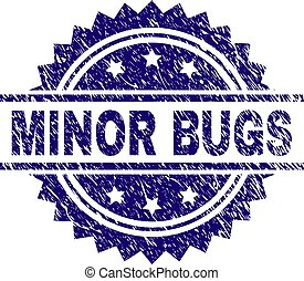 Scratched Textured MINOR BUGS Stamp Seal - MINOR BUGS stamp...