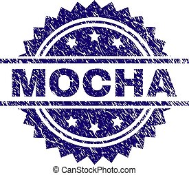 Scratched Textured MOCHA Stamp Seal