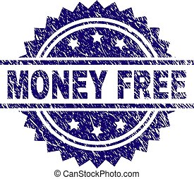 Scratched Textured MONEY FREE Stamp Seal