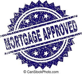 Scratched Textured MORTGAGE APPROVED Stamp Seal