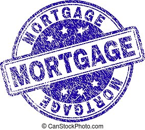 Scratched Textured MORTGAGE Stamp Seal