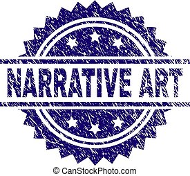 Scratched Textured NARRATIVE ART Stamp Seal