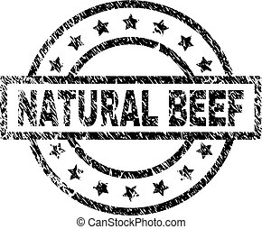 Scratched Textured NATURAL BEEF Stamp Seal