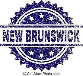 Scratched Textured NEW BRUNSWICK Stamp Seal