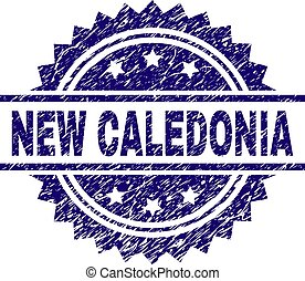Scratched Textured NEW CALEDONIA Stamp Seal