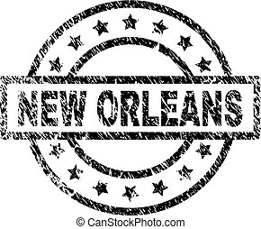 Scratched Textured NEW ORLEANS Stamp Seal
