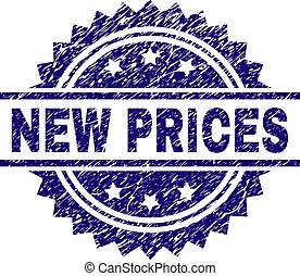Scratched Textured NEW PRICES Stamp Seal