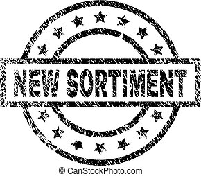 Scratched Textured NEW SORTIMENT Stamp Seal