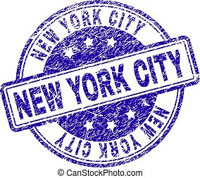 Scratched Textured NEW YORK CITY Stamp Seal
