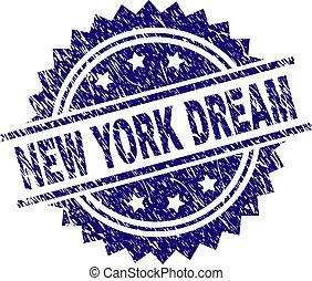 Scratched Textured NEW YORK DREAM Stamp Seal