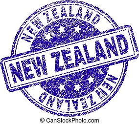 Scratched Textured NEW ZEALAND Stamp Seal