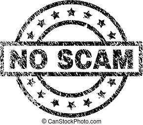 Scratched Textured NO SCAM Stamp Seal