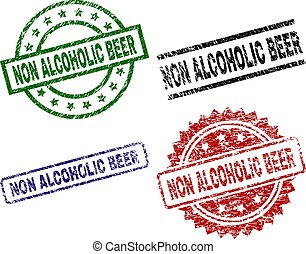 Scratched Textured NON ALCOHOLIC BEER Seal Stamps