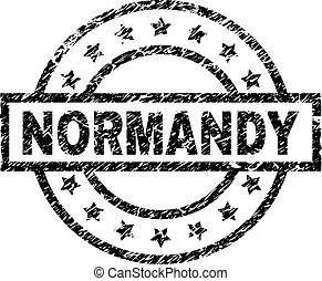 Scratched Textured NORMANDY Stamp Seal - NORMANDY stamp seal...