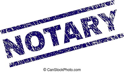 Scratched Textured NOTARY Stamp Seal - NOTARY seal print...