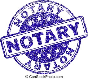 Scratched Textured NOTARY Stamp Seal - NOTARY stamp seal...