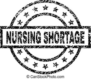 Scratched Textured NURSING SHORTAGE Stamp Seal