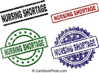 Scratched Textured NURSING SHORTAGE Stamp Seals
