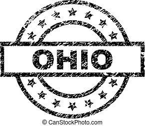 Scratched Textured OHIO Stamp Seal - OHIO stamp seal...