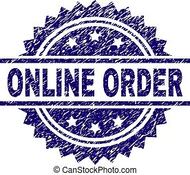 Scratched Textured ONLINE ORDER Stamp Seal