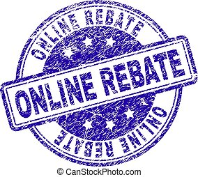 Scratched Textured ONLINE REBATE Stamp Seal