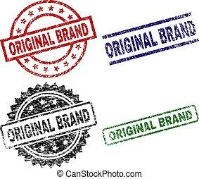 Scratched Textured ORIGINAL BRAND Stamp Seals