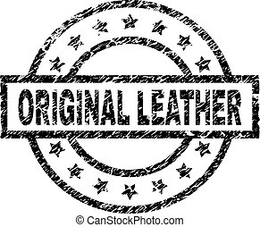 Scratched Textured ORIGINAL LEATHER Stamp Seal