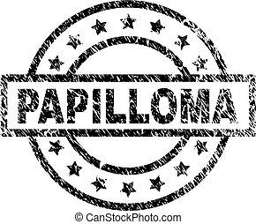 Scratched Textured PAPILLOMA Stamp Seal