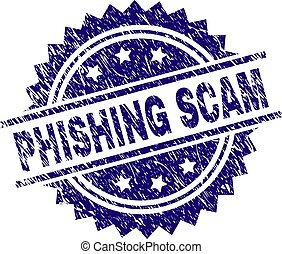 Scratched Textured PHISHING SCAM Stamp Seal