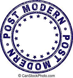Scratched Textured POST MODERN Round Stamp Seal