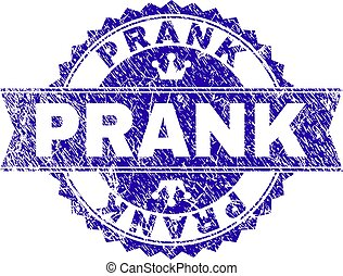 Scratched Textured PRANK Stamp Seal with Ribbon - PRANK...