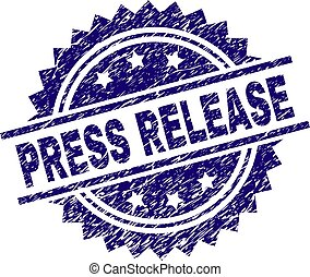 Scratched Textured PRESS RELEASE Stamp Seal