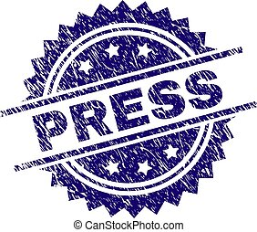 Scratched Textured PRESS Stamp Seal