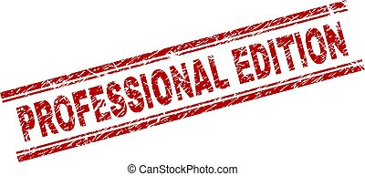 Scratched Textured PROFESSIONAL EDITION Stamp Seal -...