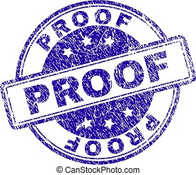 Scratched Textured PROOF Stamp Seal
