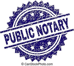 Scratched Textured PUBLIC NOTARY Stamp Seal - PUBLIC NOTARY...