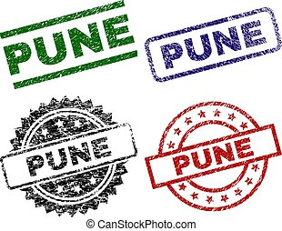 Scratched Textured PUNE Seal Stamps