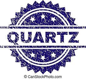 Scratched Textured QUARTZ Stamp Seal
