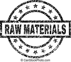 Scratched Textured RAW MATERIALS Stamp Seal - RAW MATERIALS ...